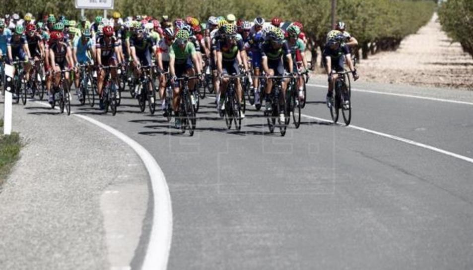 Imatge d'un instant de la Vuelta a Espanya 2016.