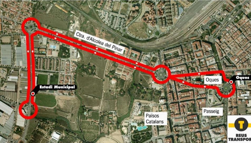 El trajecte de l'autobús.
