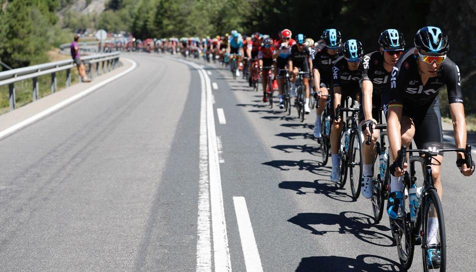 Ciclistes, durant la prova.