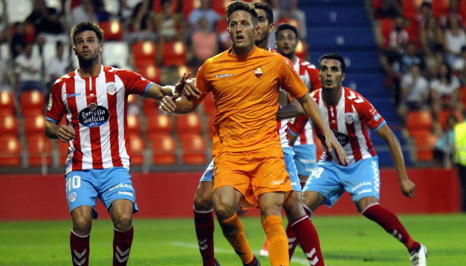 Edgar Hernández, durant el partit.