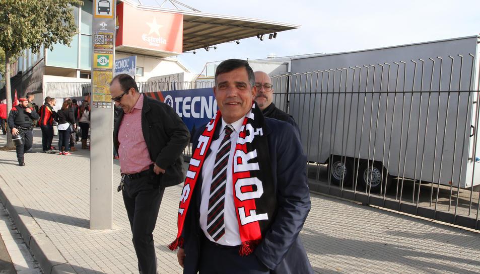 Jordi Cervera, durant el Reus-Nàstic de la temporada passada