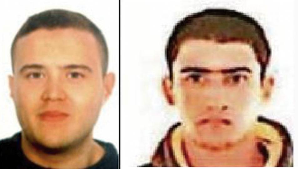 Mohammad Hychami, a l'esquerra, i Youseff Allaa, a la dreta, en fotografies difoses per Mossos d'Esquadra.