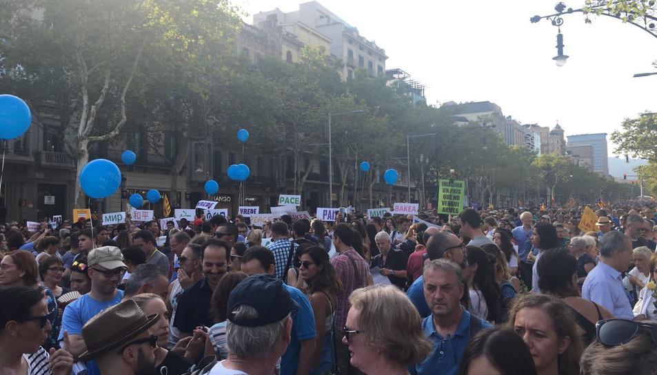 Manifestación 'No tinc por' en Barcelona