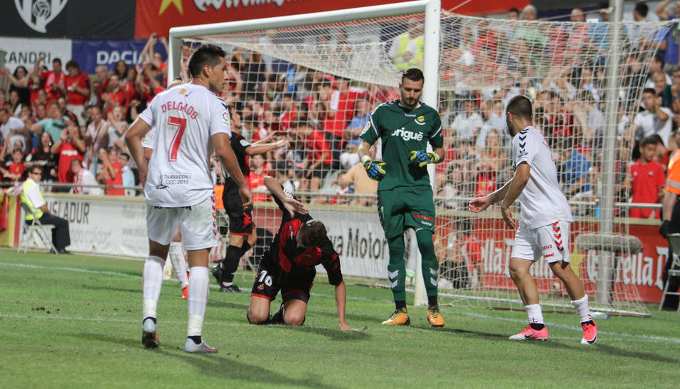 Stole Dimitrievski s'ha consolidat com a porter titular del Nàstic després d'una temporada a l'ombra de Manolo Reina.