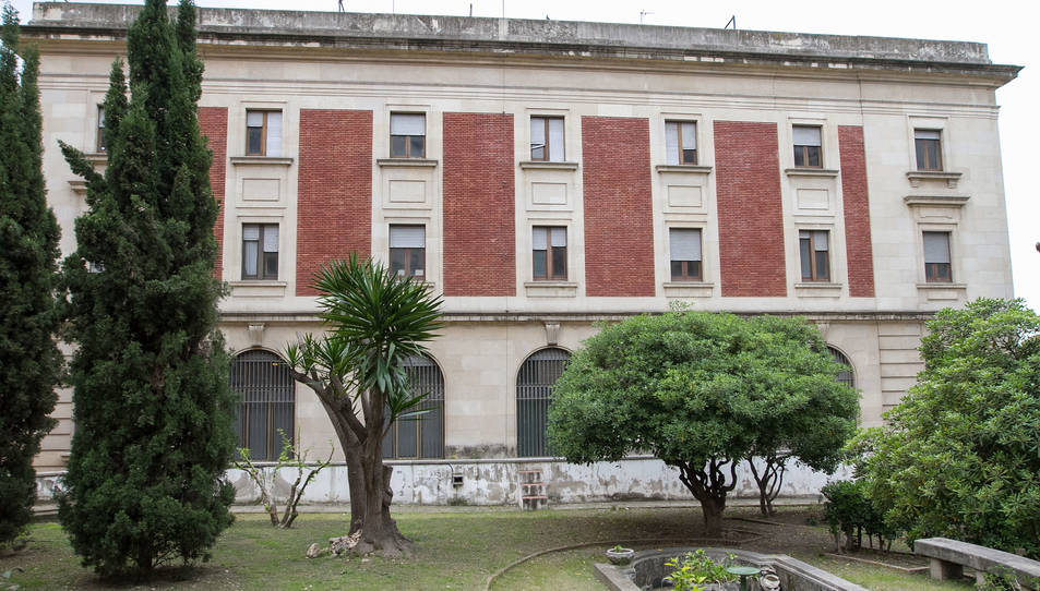 Els jardins del Banc d'Espanya el mes d'abril, quan es va presentar el projecte de remodelació.