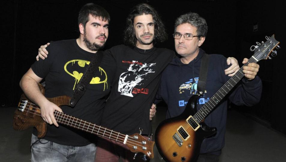 Sergio González, Abel del Fresno i Juan Abarca, d'esquerra a dreta, membres de 'Mamá Ladilla'.