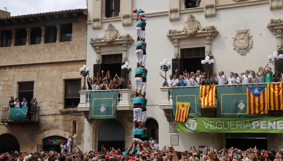 2de8sf dels Castellers de Vilafranca per Sant Fèlix.