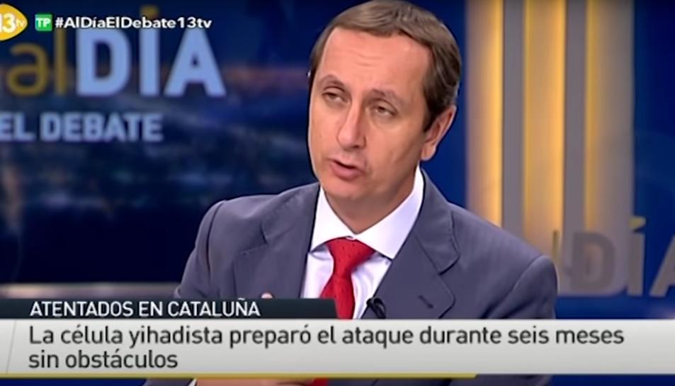 Instant d'un dels debats que el canal de televisió va emetre després dels atemptats de Barcelona i Cambrils.