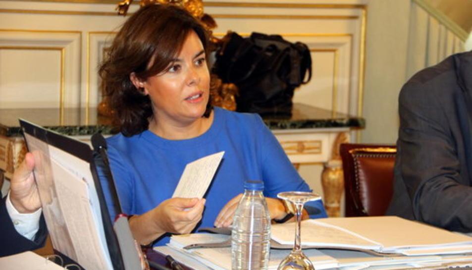 Sáenz de Santamaría presidint la reunió amb els consellers autonòmics, el 17 de juliol de 2017.