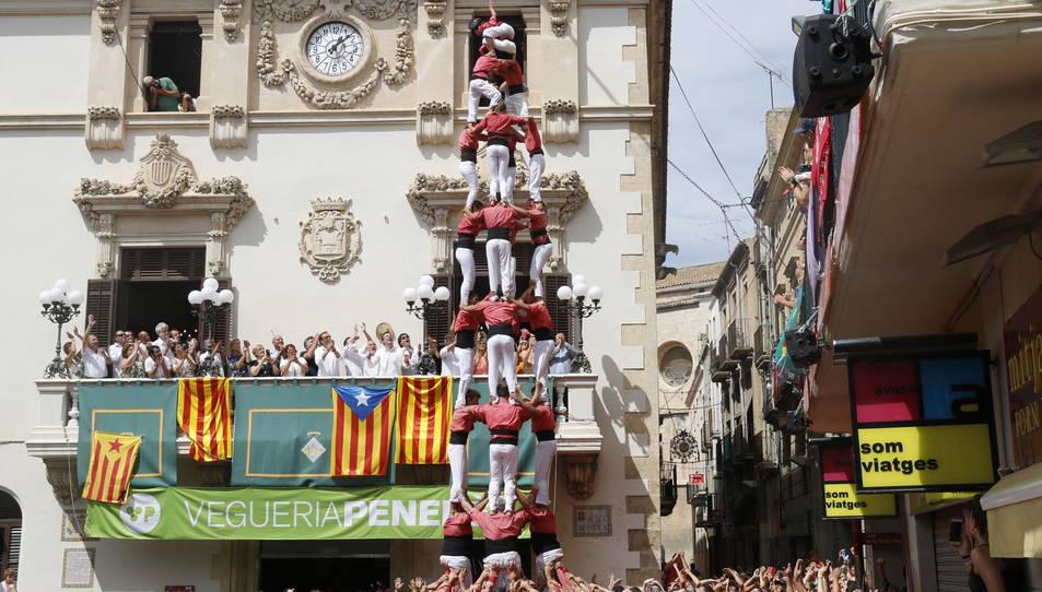 4de9sf de la Colla Vella Xiquets de Valls per Sant Fèlix.