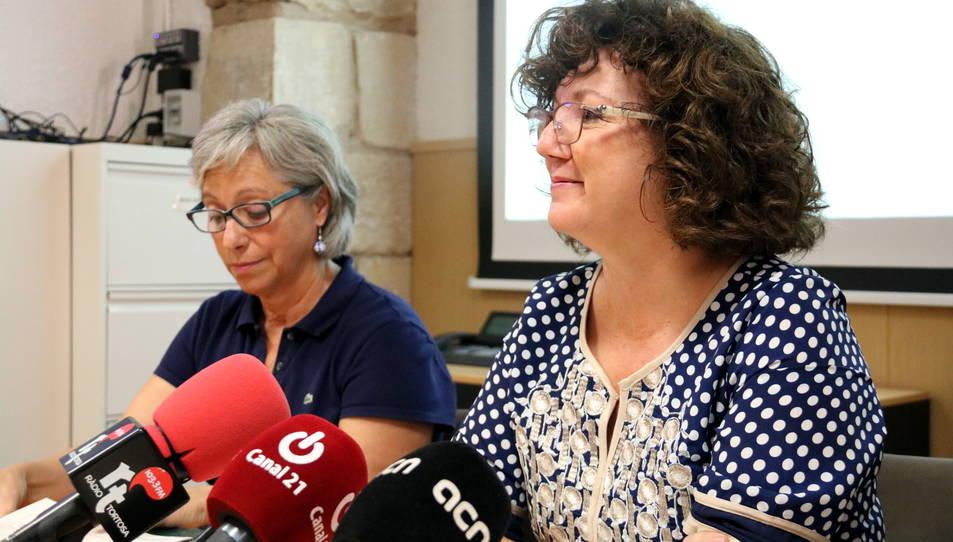 La directora dels serveis territorials d'Ensenyament a les Terres de l'Ebre, Manolita Cid, en la presentació de les dades del nou curs escolar al territori.