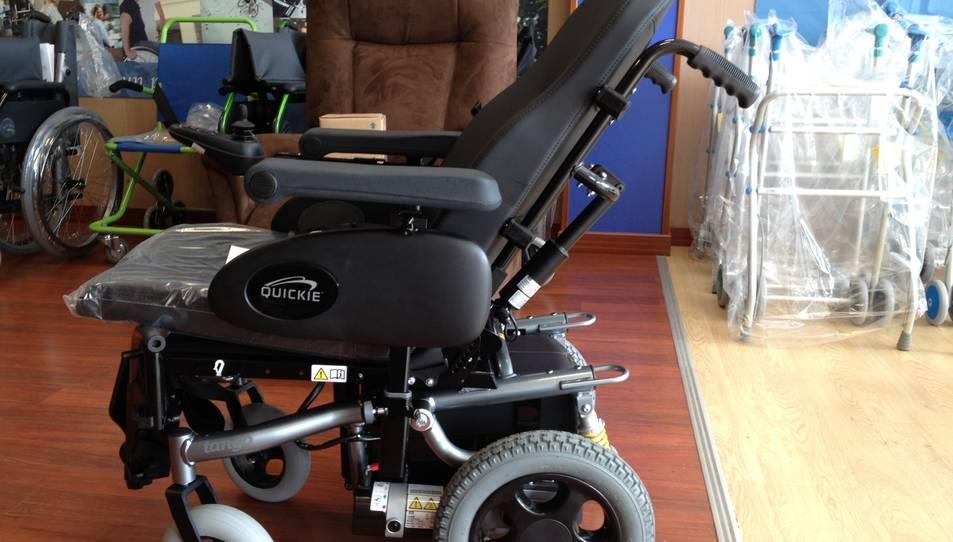 Una cadira de rodes elèctrica en una imatge d'arxiu.