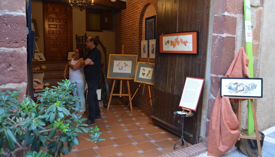 Els veïns del poble obren els portals de les seves cases per acollir les exposicions artístiques.