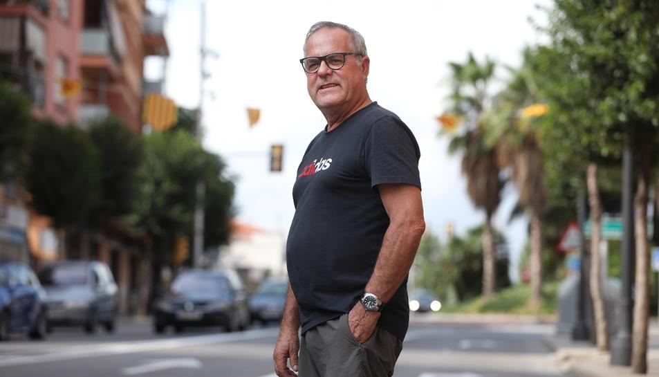 Pere Calvet, president de l'Associació de Veïns Tarraco, aquest passat cap de setmana.