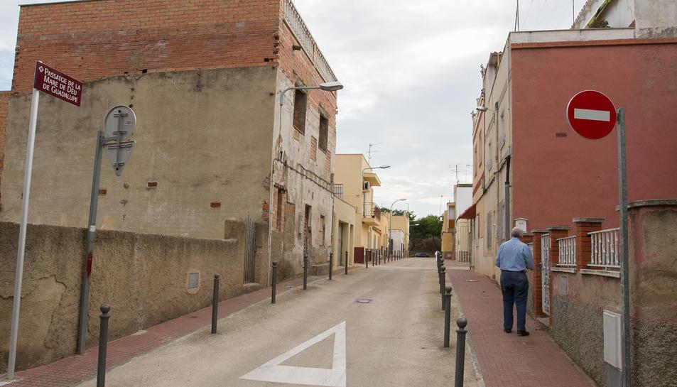 El carrer Mare de Déu de Guadalupe serà un dels que estaran vigilats després del muntatge del sistema.