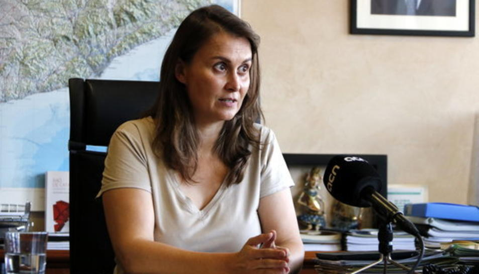 La consellera d'Agricultura, Ramaderia, Pesca i Alimentació, Meritxell Serret.