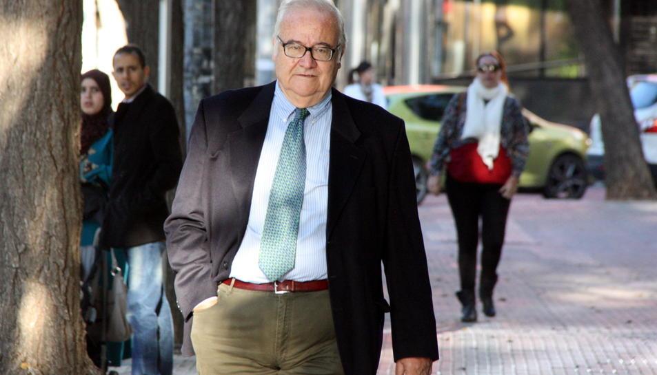 Una imatge d'arxiu de l'exdirector general d'Innova Josep Prat a l'exterior dels Jutjats de Reus.