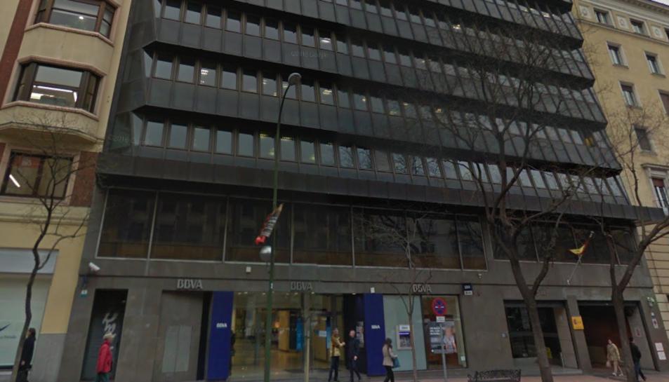 Imatge de la façana exterior de l'edifici de l'Audiència Nacional a Madrid.