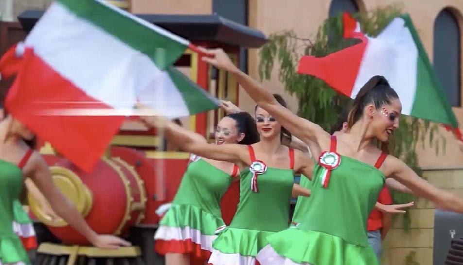 Durant tot el dia es faran espectacles i actuacions pel parc dedicat a la marca italiana.