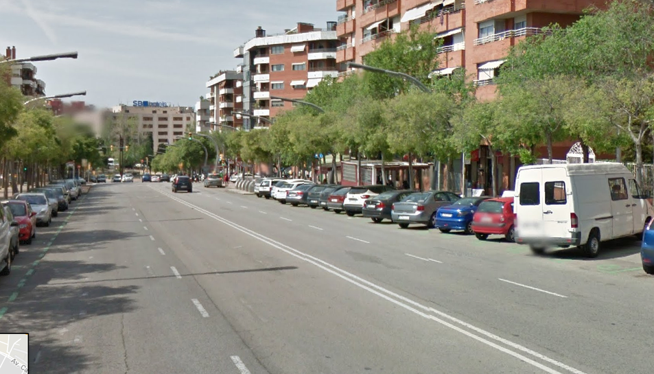 Carrer de Marquès de Montoliu de Tarragona, on s'ubica l'edifici objecte dels robatoris.