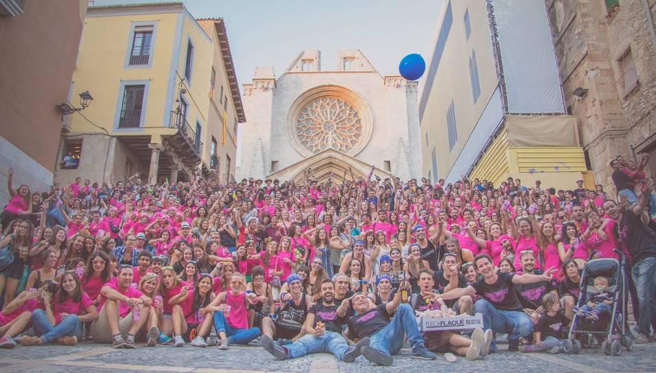 Foto oficial de l'Onzena Cercabirra de Santa Tecla celebrada l'any passat.