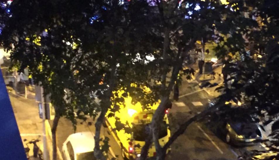 Imatge de l'operació antiterrorista a la Sagrada Família.