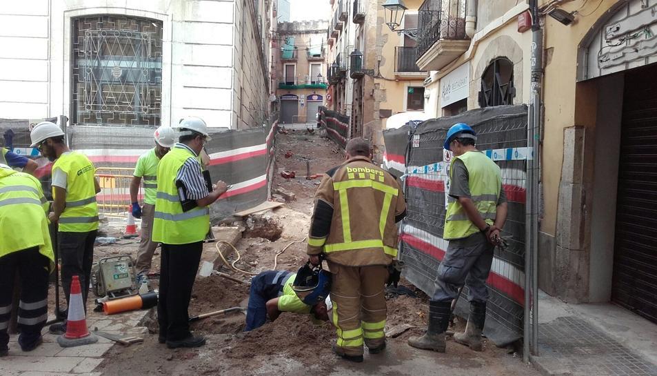 La fuita de gas s'ha produït al carrer Sant Domènech.