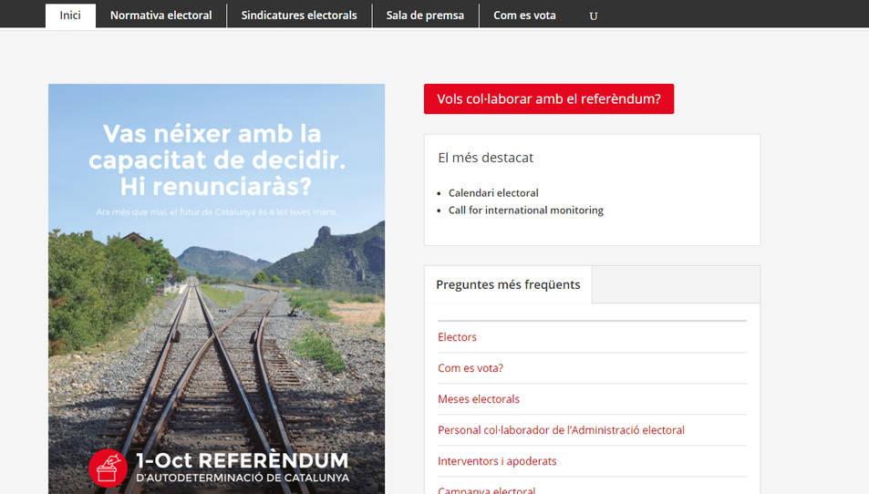 Captura de pantalla de la web del referèndum.