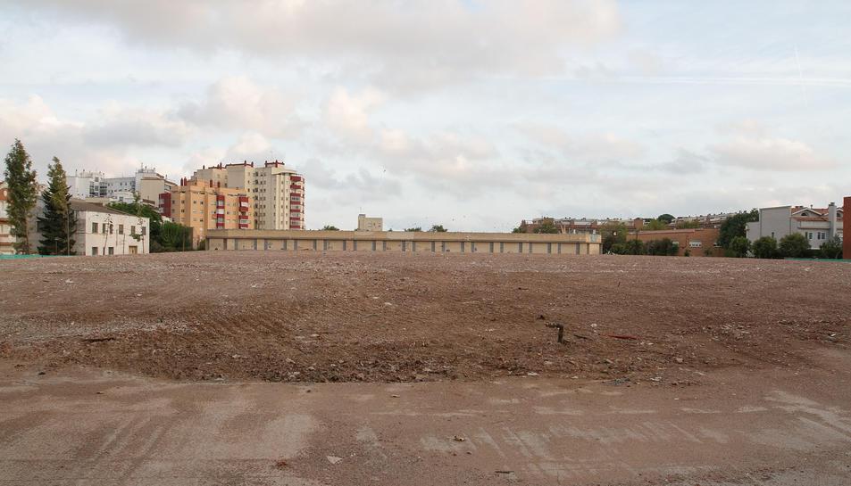 Una imatge d'arxiu dels terrenys on hi havia la passarel·la textil.