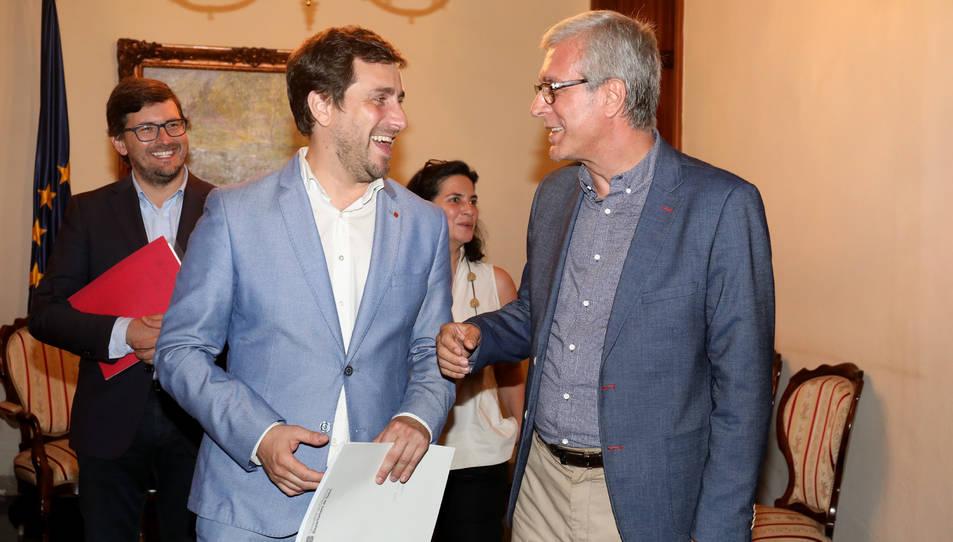 L'alcalde Ballesteros i el conseller Comín van demostrar que els uneix una bona amistat.