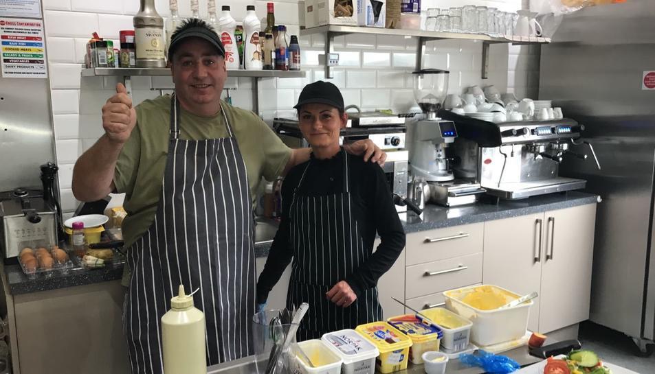 Sergio Outerial, a la cuina del restaurant on va començar d'encarregat i que ha comprat a Durham.