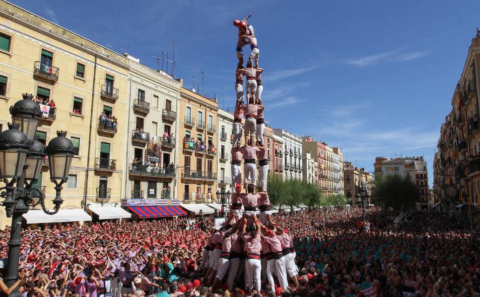 3de9f dels Xiquets de Tarragona a la diada de Santa Tecla - El Primer Diumenge.