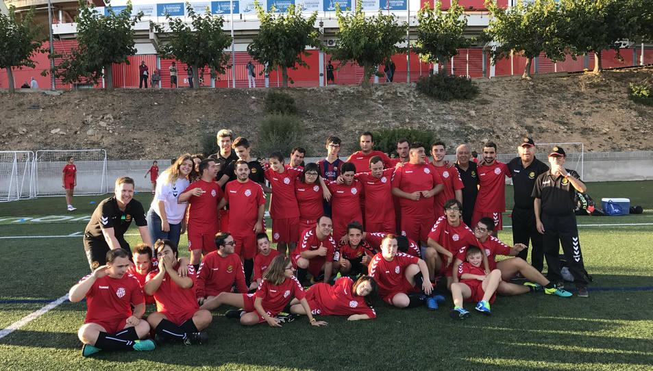 Primer entrenament de l'equip Nàstic Genuine per la nova temporada