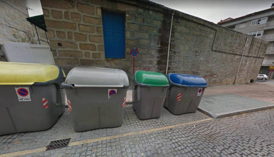 Imatge dels containers on va ser trobat el nadó.