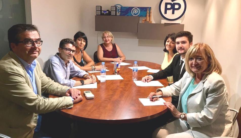 La nova executiva comarcal del tarragonès del Partit Popular.