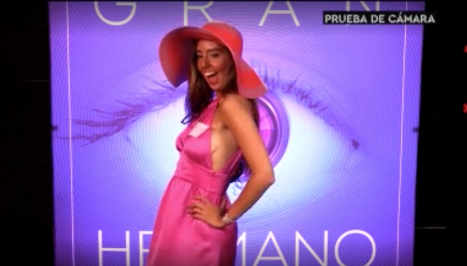 Una captura del vídeo de presentació de la jove, de 20 anys.