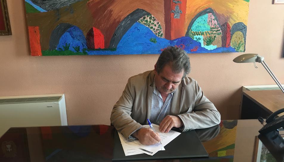 Imatge de l'alcalde de Montlblanc, Josep