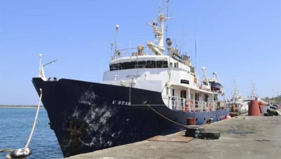 El vaixell C-Star atracat, aquest estiu, a Xipre, d'on va ser expulsat.
