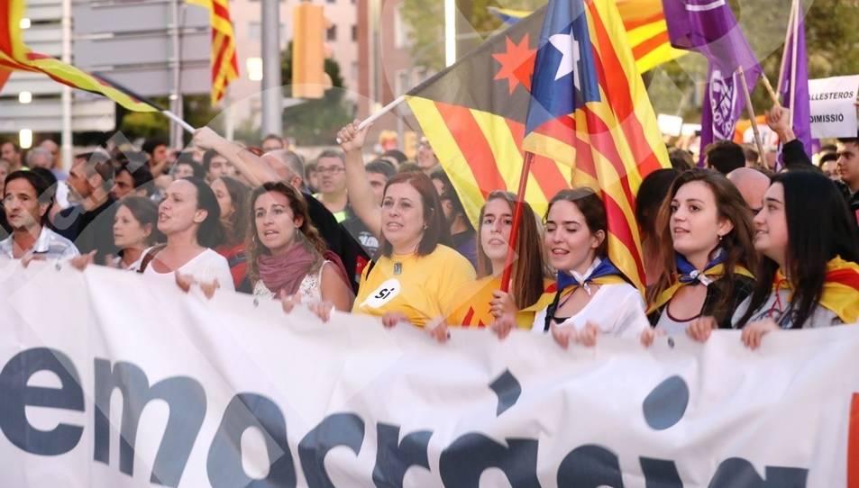 Manifestació pel referéndum a Tarragona