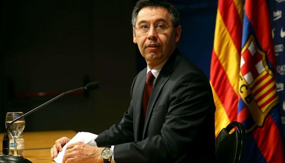 Imatge d'arxiu del president del Barça, Josep Maria Bartomeu.