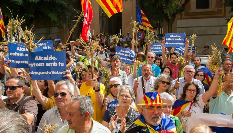 El suport ciutadà cap a Adam Tomàs, d'ERC.