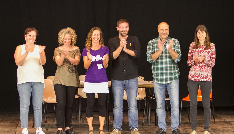 En imatge, els ponents que van pronunciar el seu discurs al Centre Cívic de Torreforta.