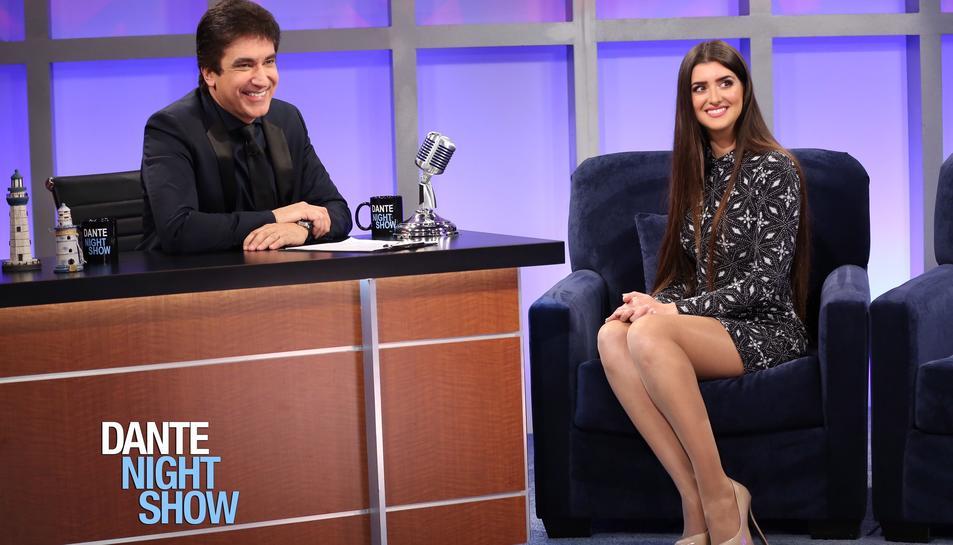 L'Elisabeth en una entrevista al programa Dante Night Show.
