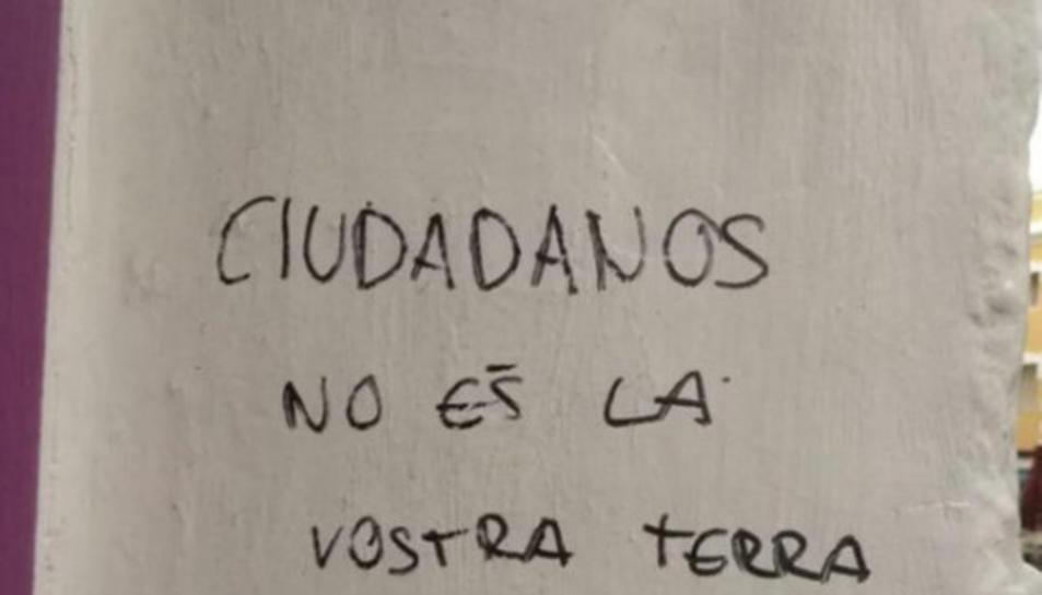 Ciutadans denuncia pintades al comerç dels pares del líder del partit, Albert Rivera, a Granollers