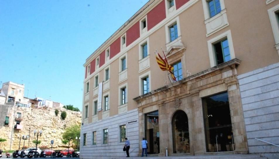 Imatge d'arxiu de la façana de la Diputació de Tarragona.