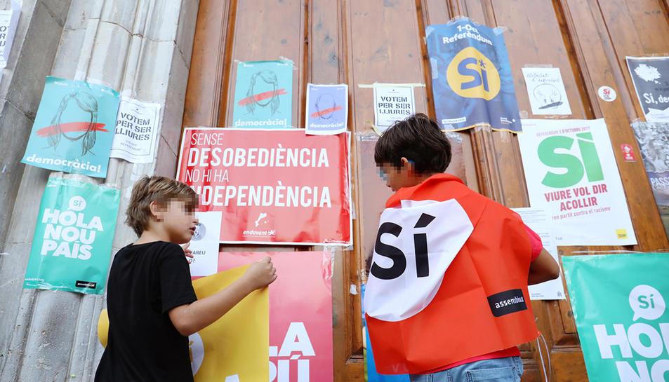 La presència de nens a la concentració de diumenge ha estat criticada per Ciutadans.