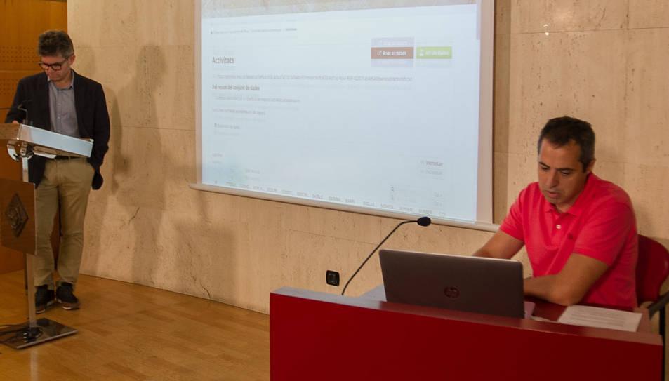 El web va ser presentat ahir pel regidor Marc Arza.