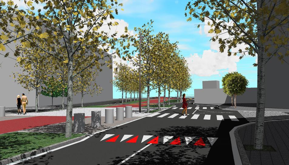 Imatge virtual del projecte de recuperació de l'antiga N-340.