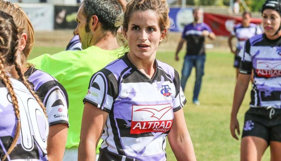La Voltor, Cristina Jorba, en un entrenament.