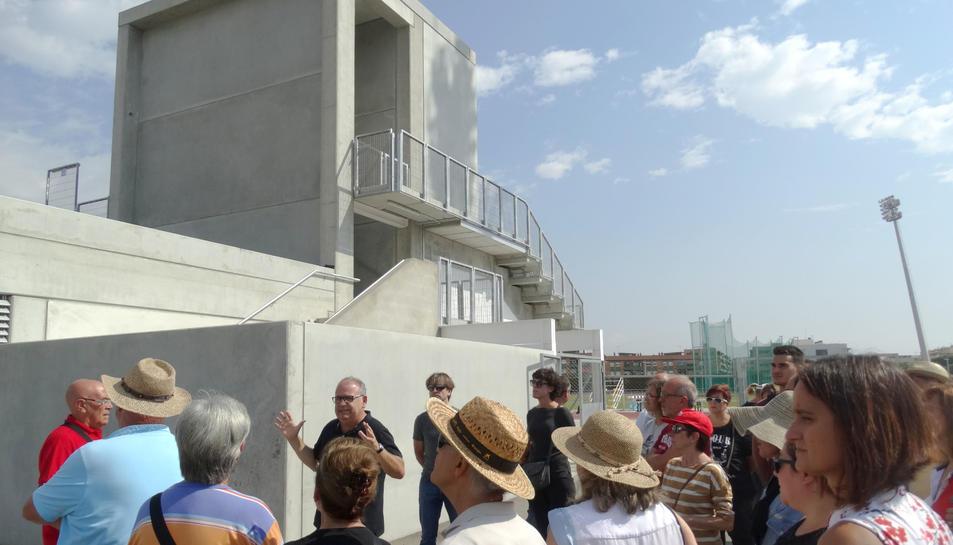 Imatge de la visita realitzada pel primer grup de voluntaris de a l'Anella Mediterrània.
